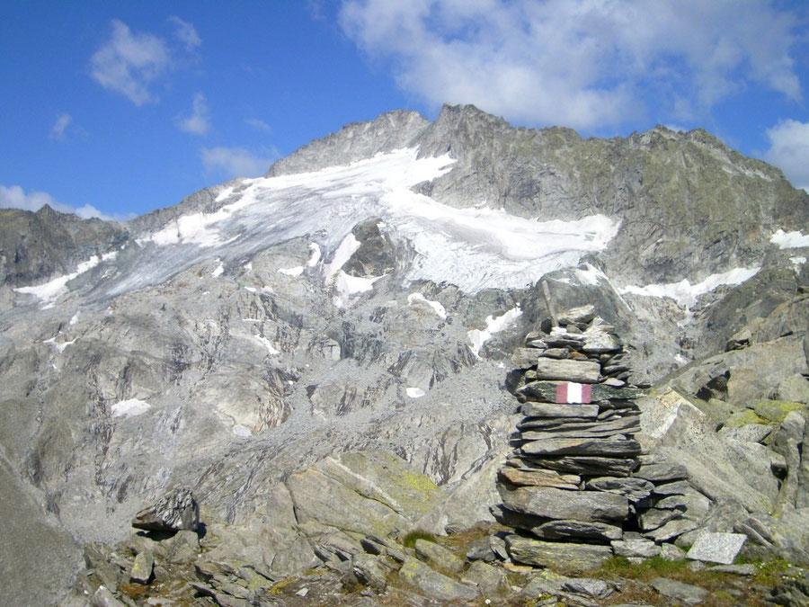 Stabeler Höhenweg - Gelenkscharte Blick Turnerkamp - Bergtour, Zillertaler Alpen, Südtirol