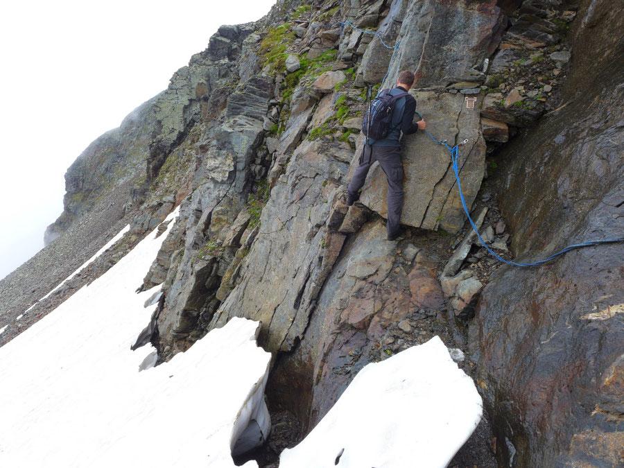 JWD Bergtouren Hörndl Hochgasser Nordwestroute Firnfeld