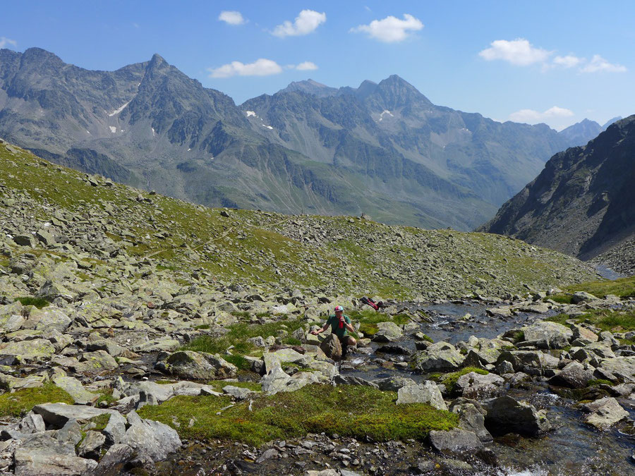 Leibnitztörl und Hochschoberhütte - Wasserstelle am Franz-Keil-Weg - Bergtour, Lienzer Hütte