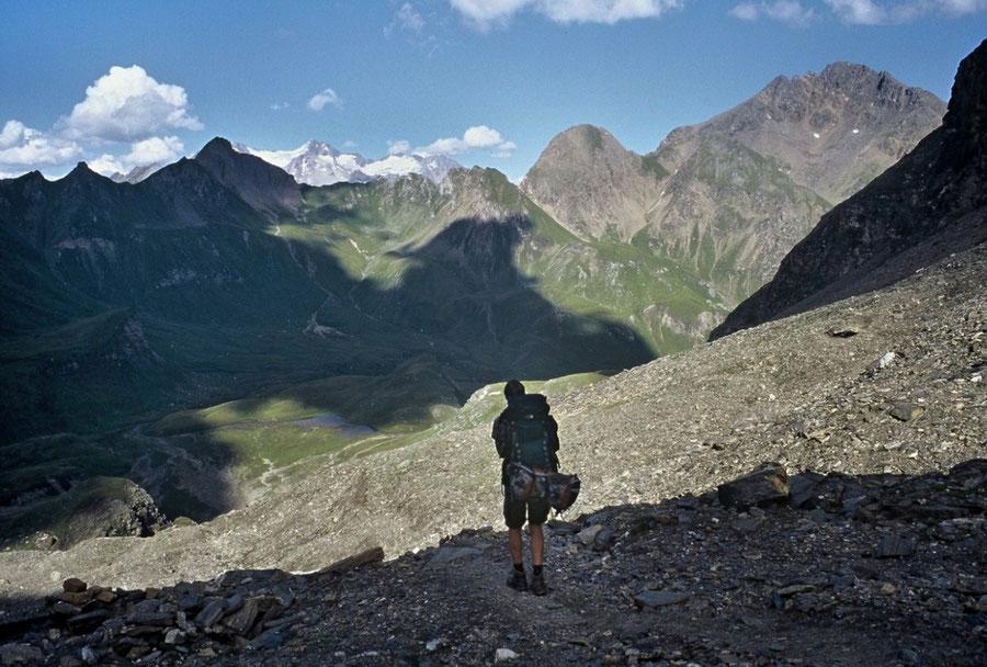 Pfunderer Höhenweg - Rauhtaljoch Abstieg zur Brixner Hütte - Wanderung, Pfunderer Berge, Südtirol