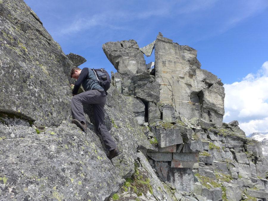 Großer Landeckkopf Südwestgrat - Kletterei Stelle im 2. Grad - Bergtour, Granatspitzgruppe, Osttirol