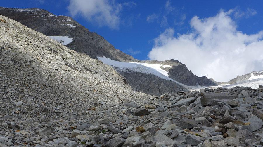 Hochfeiler - Gliderferner Seitenmoräne - Bergtour, Zillertaler Alpen, Südtirol, Edelrauthütte