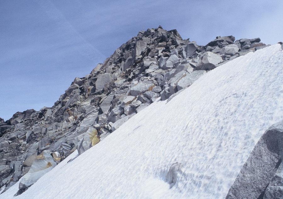 Keilbachspitze - steiles Firnfeld unter'm Gipfel - Bergtour, Zillertaler Alpen, Ahrntal, Südtirol