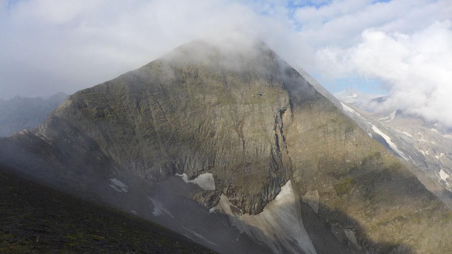Kapuziner - Gipfel, Blick zum Vorgipfel des Sinwelleck - Bergtour, Großglockner Hochalpenstrasse, Kärnten