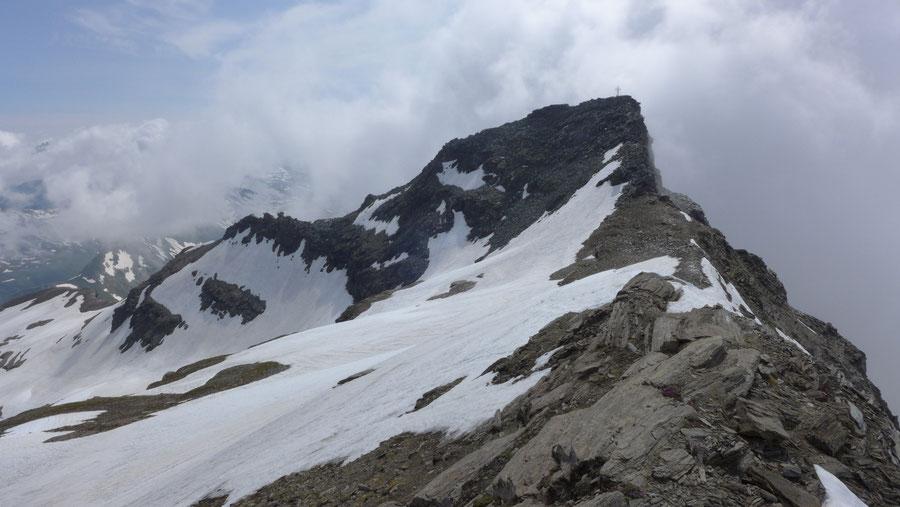 Vorderer Geiselkopf - Hinterer Geiselkopf, Blick zur Vorderen Spitze - Bergtour, Nordostgrat, Hagener Hütte