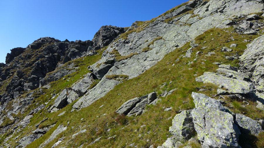 Rothorn - Nordwestgrat, Scharte, Grasband - Bergtour, Kreuzeckgruppe, Kärnten