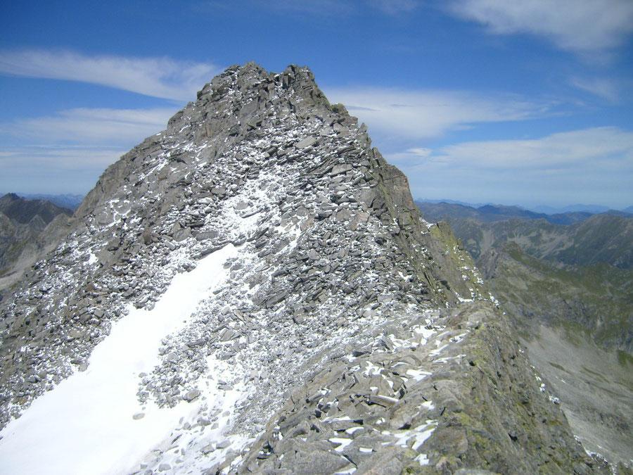 Rosswandspitze - Gipfelbereich, Südgrat rechts - Bergtour, Zillertaler Alpen, Tirol