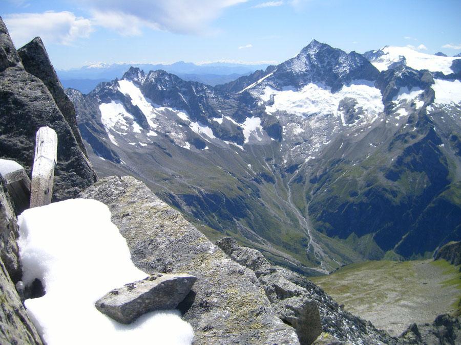Rosswandspitze - Gipfel Blick Keilbachspitze Löffler - Bergtour, Zillertaler Alpen, Tirol