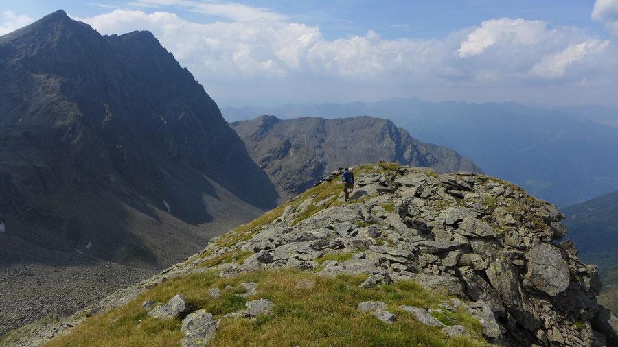 Leibnitzkopf Mirnitzscharte - Gipfelgrat - Bergtour, Hochschoberhütte, Lienzer Hütte, Schobergruppe