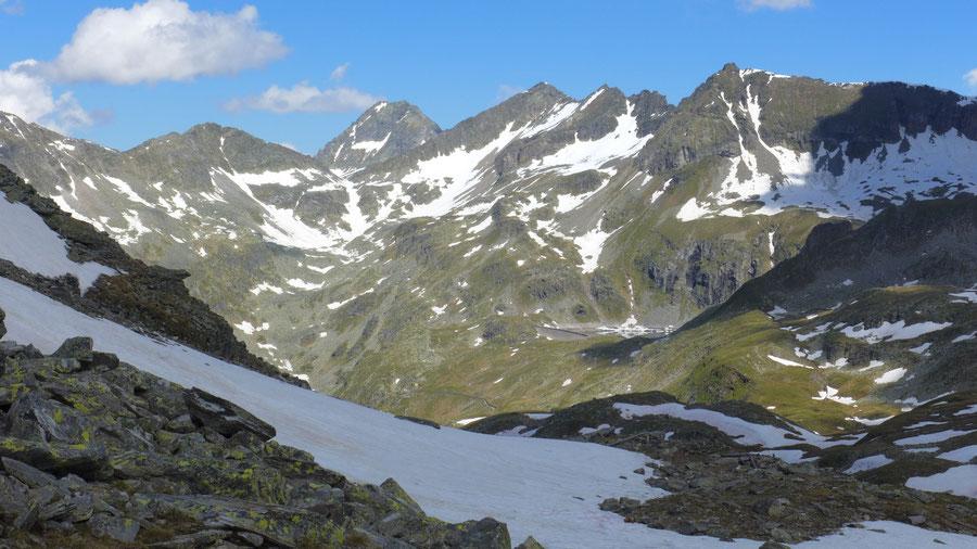 JWD Bergtouren Ankogelgruppe Reißeckgipfel über dem Riekentörl