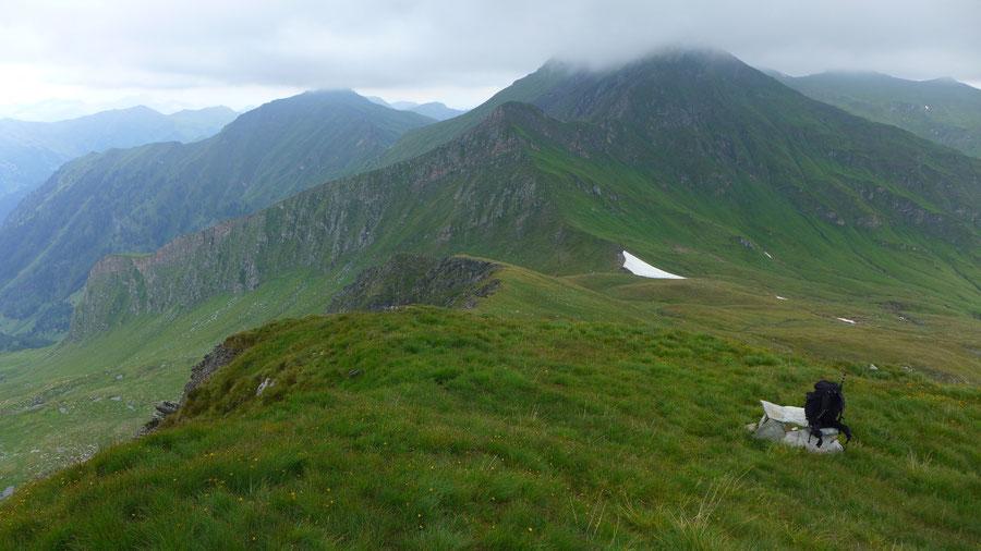 Mureck - Wanderung, Bergtour, Großarltal - Blick hinab zum Murtörl