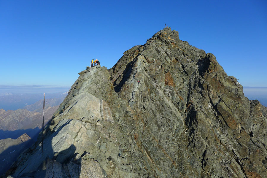 Großglockner Normalweg - Kleinglockner Blick zum Gipfel- Bergtour, Weg der Erstbesteiger, Kärnten