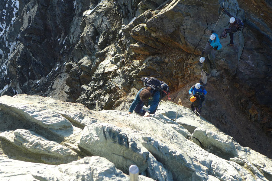 Großglockner Normalweg - Glocknerscharte und Gipfelwand - Bergtour, Weg der Erstbesteiger, Kärnten