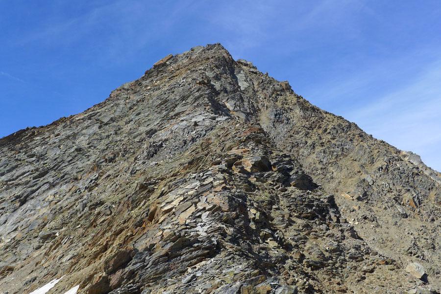 Nördliche Malhamspitze - Bergtour, Ostgrat, Essener-Rostocker-Hütte - oberer Ostgrat