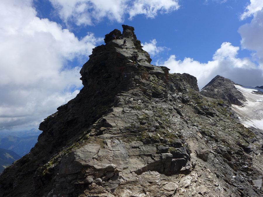 Schareck Pröllweg - Felsplatte am Westgrat des Schareck - Bergtour, Klettersteig, Niedersachsenhaus