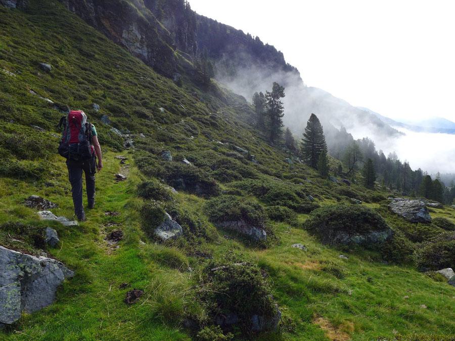 Wangenitzsee - Aufstieg von der Lienzer Hütte zur Unteren Seescharte - Wangenitzseehütte, Schobergruppe