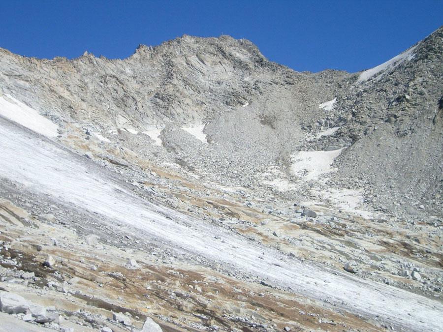Großer Möseler - Kar unter dem Gipfelaufbau - Bergtour, Zillertaler Alpen, Südtirol, Chemnitzer Hütte
