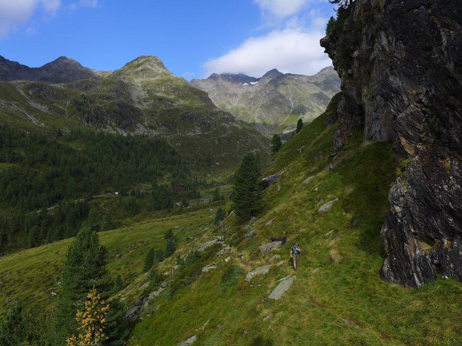 Wangenitzsee - Von der Lienzer Hütte zur Unteren Seescharte - Wangenitzseehütte, Schobergruppe