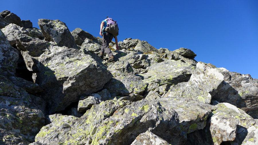 Rothorn - NW-Gipfel, Blockhalde - Bergtour, Kreuzeckgruppe, Kärnten