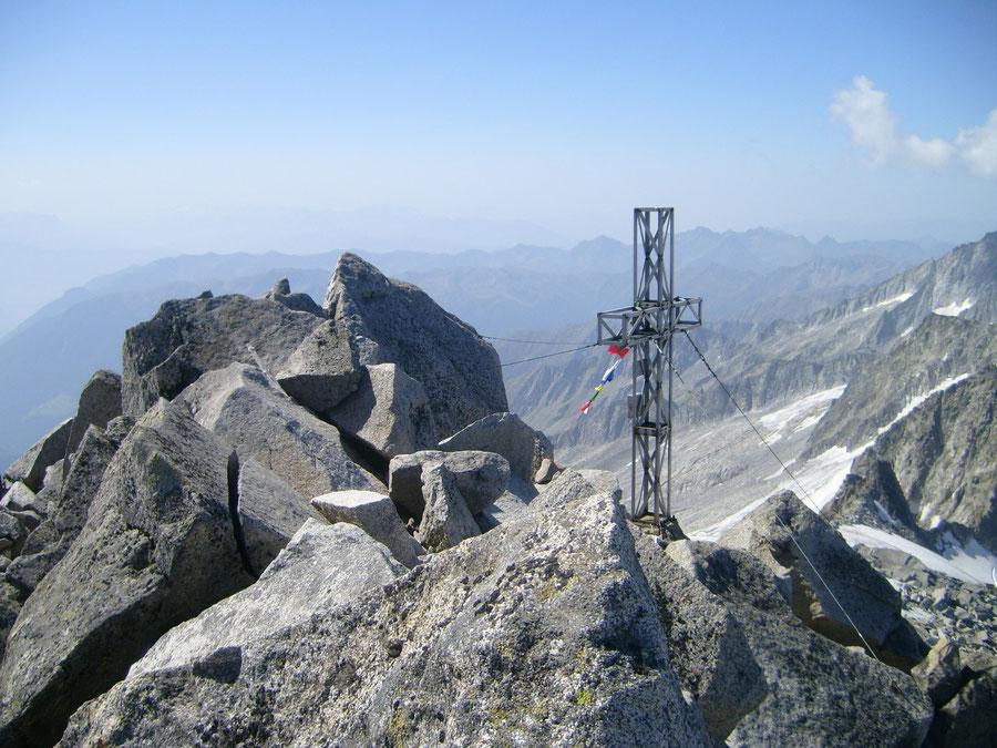 Großer Löffler - Gipfelkreuz - Bergtour, Zillertaler Alpen, Ahrntal, Südtirol