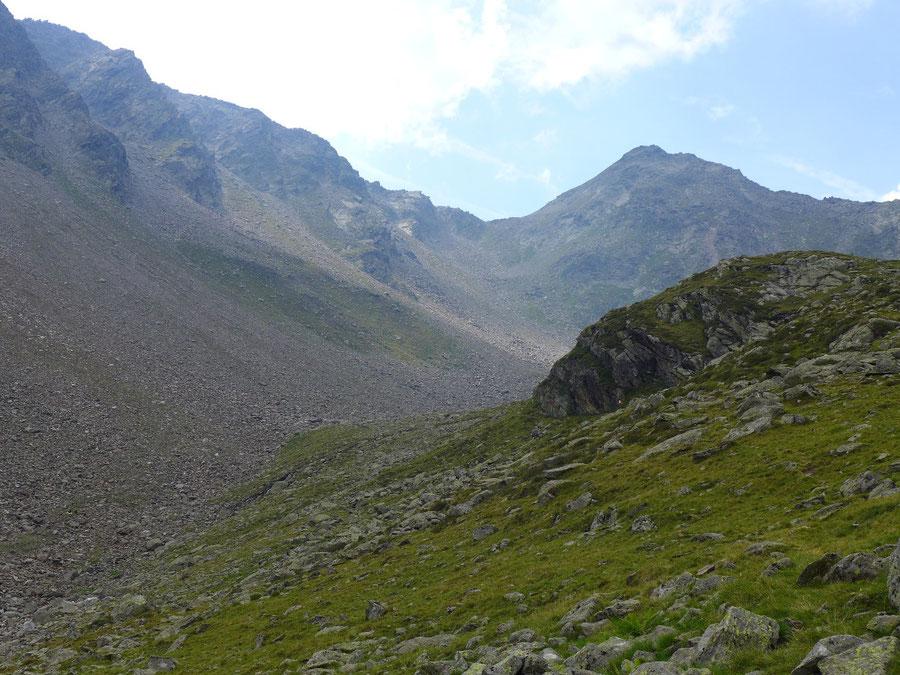 Mirnitzscharte - Leibnitzkopf über dem Mirnitzboden - Bergtour, Hochschoberhütte, Lienzer Hütte, Schobergruppe