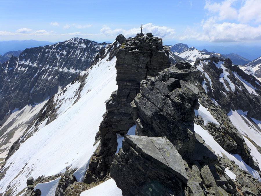 Zaubernock - Am nordwestlichen Gipfel - Bergtour, Obere Mooshütte, Reißeckgruppe, Kärnten