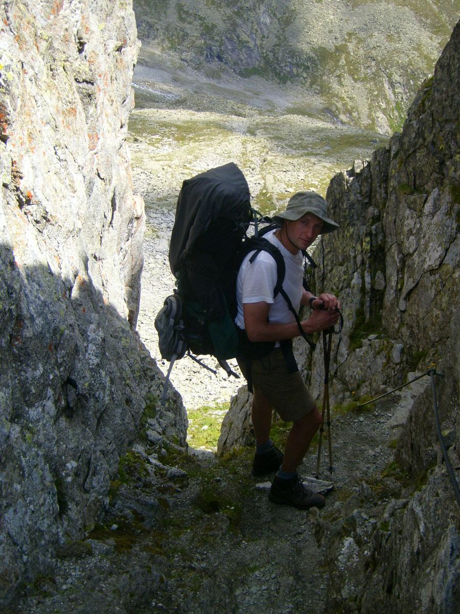 Stabeler Höhenweg - Schwarzenbachtörl Sicherungen - Bergtour, Zillertaler Alpen, Südtirol