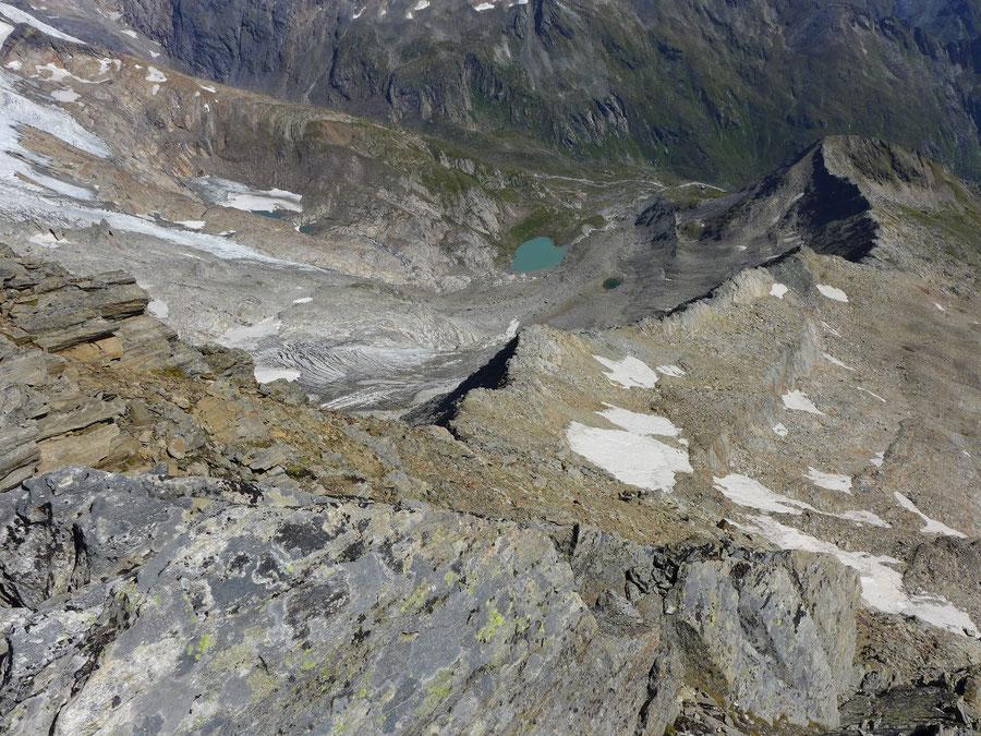 Nördliche Malhamspitze - Bergtour, Ostgrat, Essener-Rostocker-Hütte - Ostgrat vom Gipfel gesehen