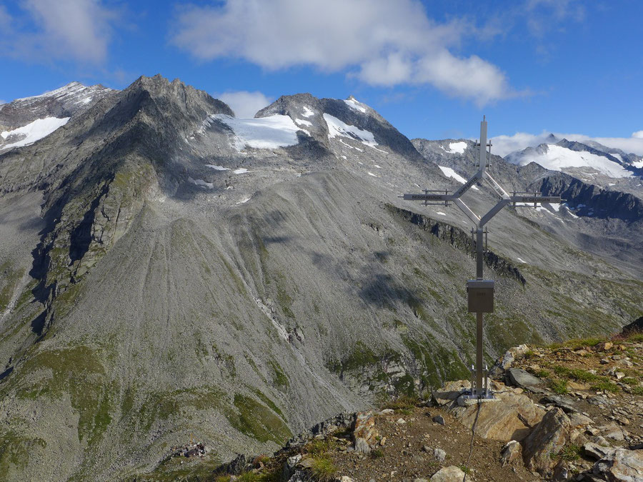 Hoher Weißzint - Normalweg aus Sicht der Napfspitze - Bergtour, Zillertaler Alpen, Südtirol