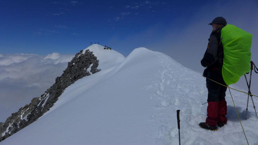 Großvenediger - Bergtour, Gletschertour, Kürsinger Hütte - Gipfel, Gipfelgrat