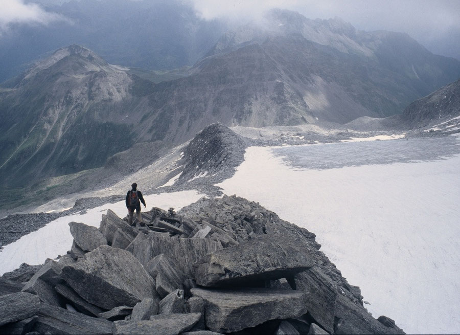 Hoher Weißzint - Blockgrat über'm Weißzintferner - Bergtour, Zillertaler Alpen, Südtirol, Edelrauthütte
