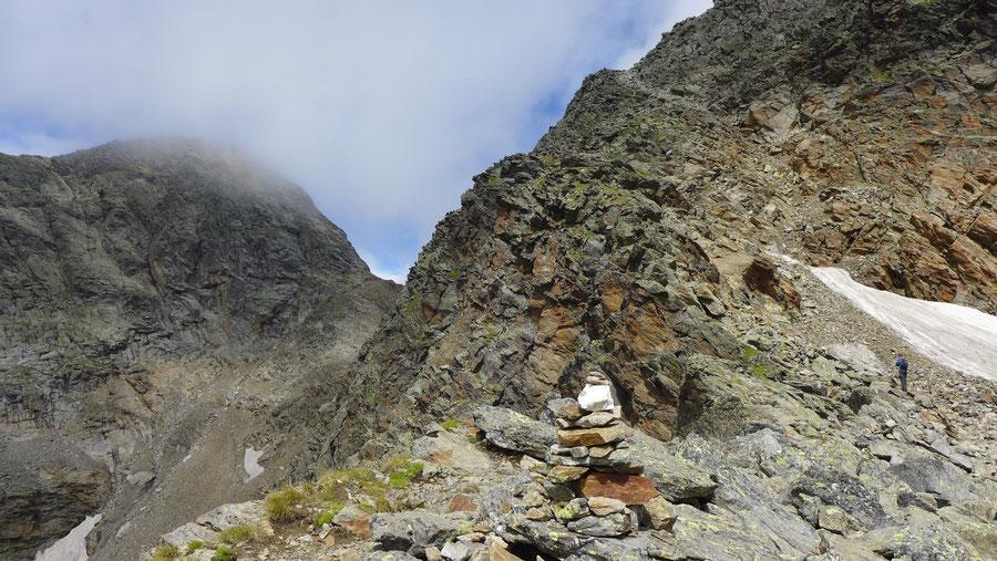 Petzeck Normalweg - steilste Passage - Bergtour, Wangenitzseehütte, Schobergruppe