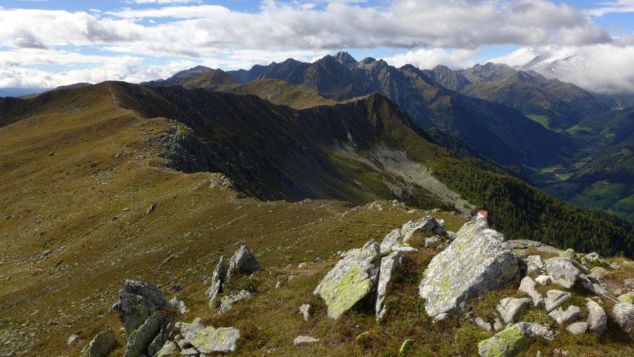 Pfunderer Höhenweg - Kamm zwischen Kleinem Tor und Putzenhöhe - Wanderung, Pfunderer Berge, Südtirol
