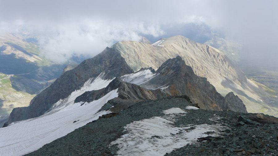 Großglockner Normalweg - Erzherzog-Johann-Hütte, Blick auf die Hohenwartscharte - Bergtour, Weg der Erstbesteiger