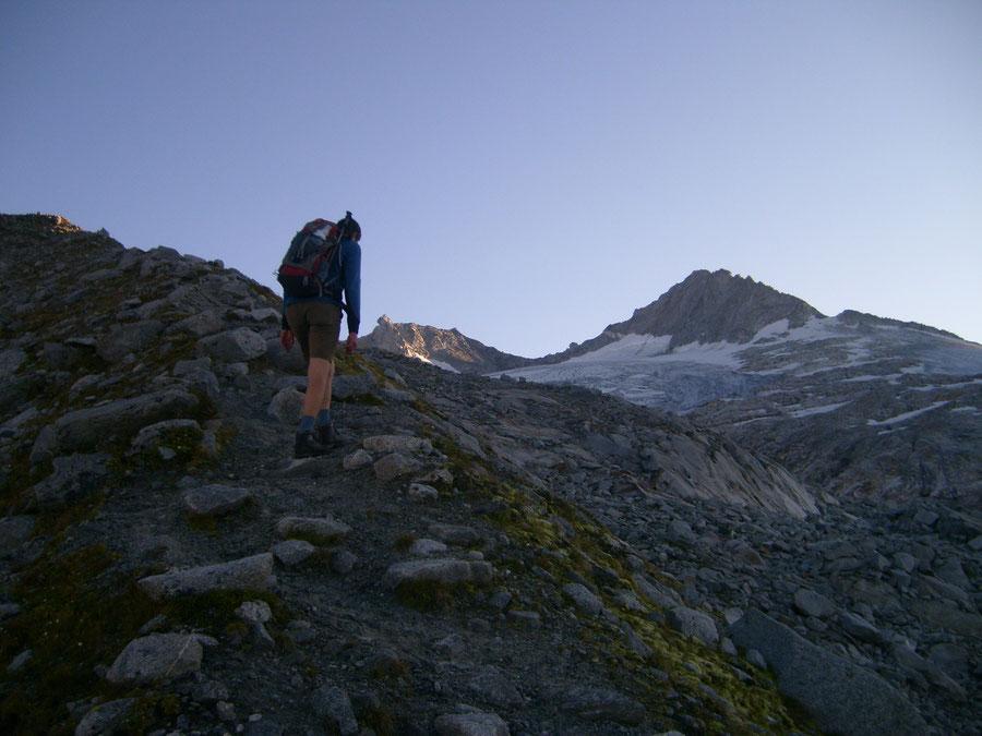 Großer Möseler - Moränensteig - Bergtour, Zillertaler Alpen, Südtirol, Chemnitzer Hütte