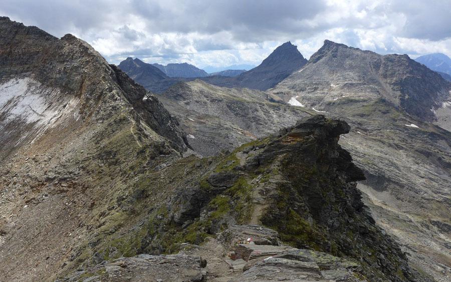 Schareck Pröllweg - Grat zwischen Herzog Ernst und Neunerkogel - Bergtour, Klettersteig, Niedersachsenhaus
