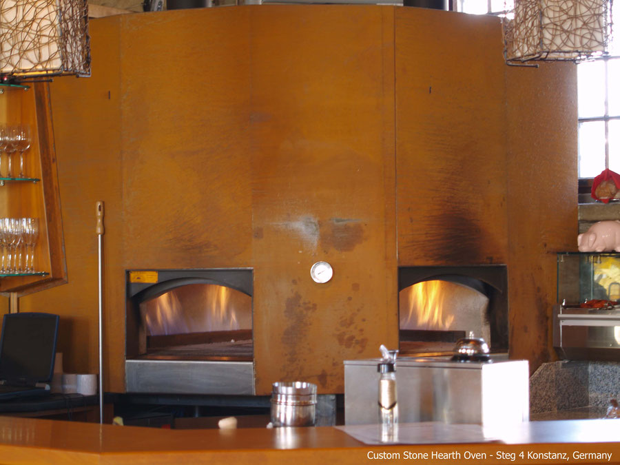 beech runder pizzaofen mit Gas befeuert