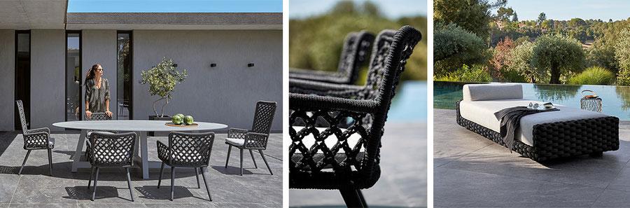 stuhl balkonstuhl aus hochwertigemPVC für garten terrasse und Balkon Sifas Balkonmöbel