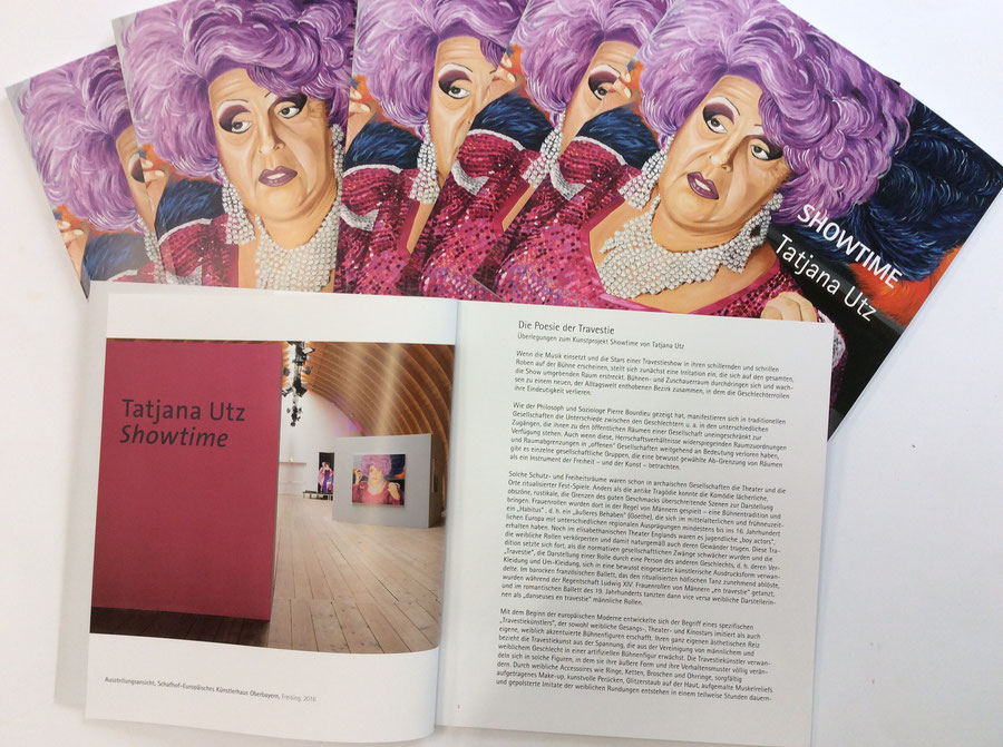Kataloge für Künstler, Printwerbung in der Kunst