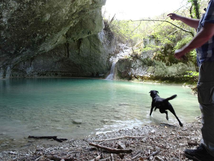 auch zum 4. Wasserfalle gelangen wir mit einem Abstecher: Mala Pec