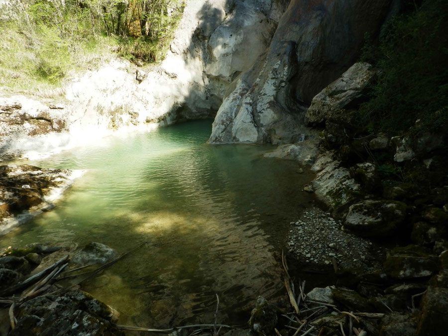 ein Abstecher führt uns zum 3. Wasserfall: Velja Pec