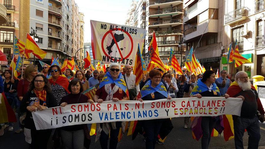 Conflicto lingüístico valenciano, no somos país catalán, somos valencianos y españoles.