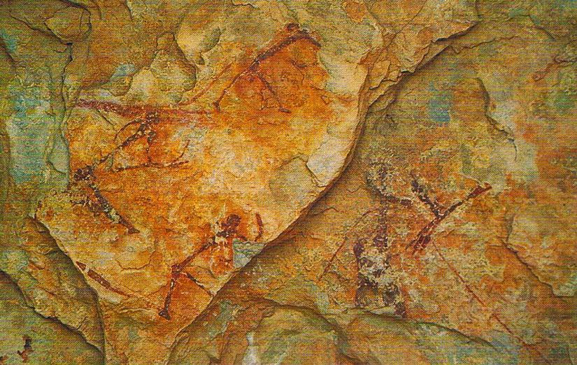 Pinturas rupestres de la cueva del Polvorín, en el Parque Natural de la Tinença de Benifassà. Comunidad Valenciana.