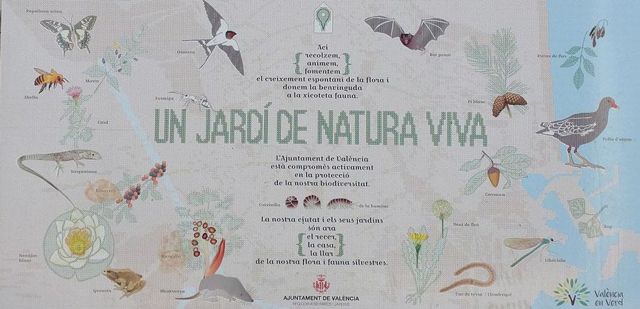El Parque de la Rambleta es un jardín de naturaleza viva, con numerosas especias.
