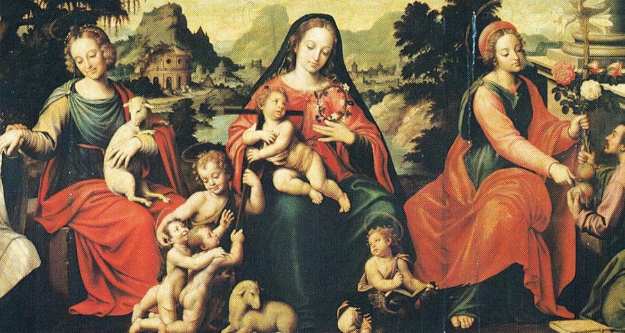 Virgen de los Deposorios del Venerable Agnesio de Joan de Joanes. En el Museo de San Pio V de valencia.