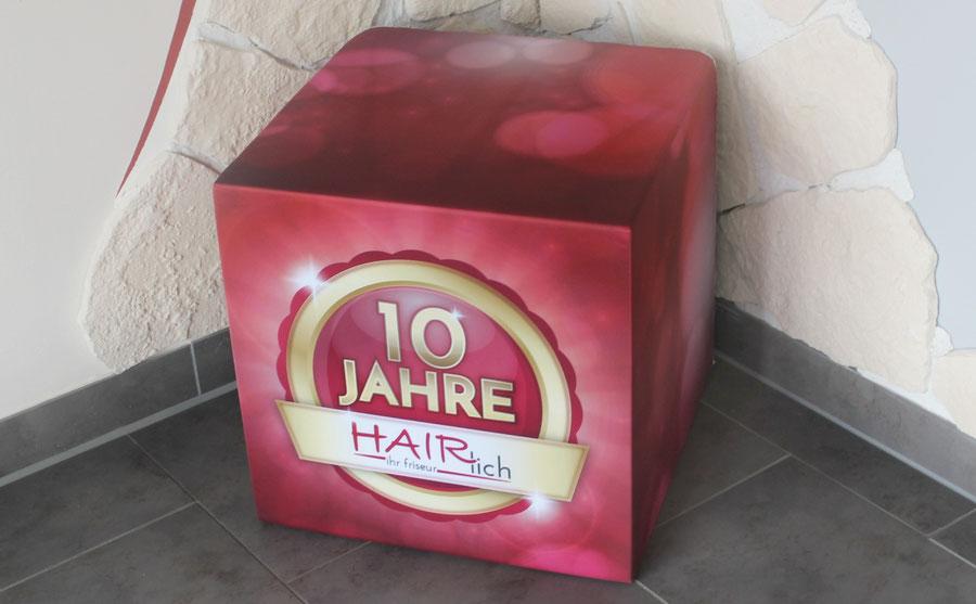 Hairlich Ihr Friseur Cuxhaven Altenbruch - 10 Jahre Hairlich - Jubiläum - Würfel Aktion