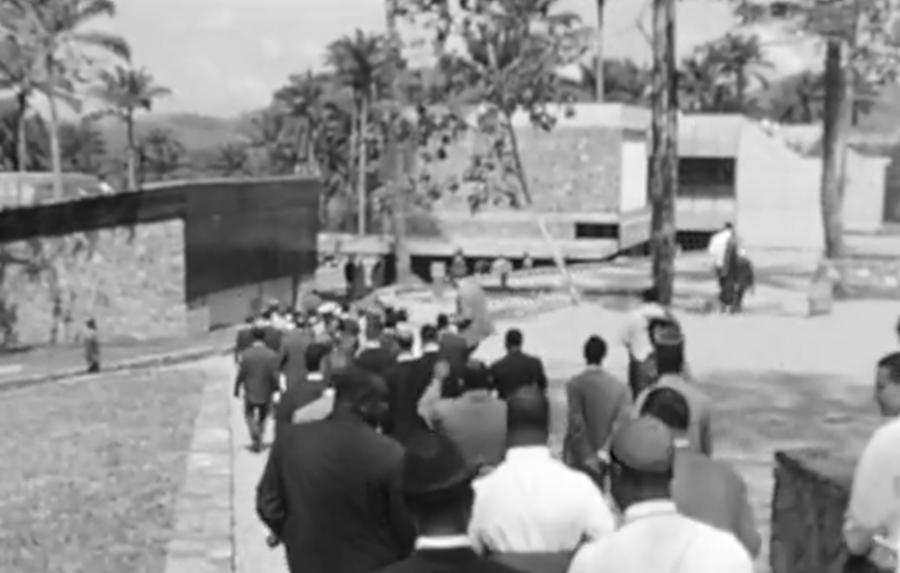 Inauguration du campus de l'Université fédérale du Cameroun à Yaoundé, quartier Ngoa-ekellé, en 1967