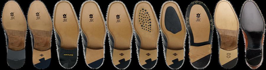 Sohlen Variationen von Reparaturen an rahmengenähten Schuhen