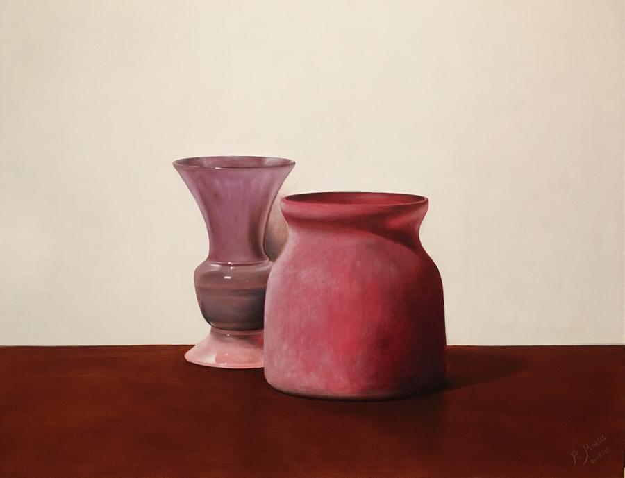 Glans en mat - Olieverf op paneel (50 x 40 cm - 01-2018) € 1250