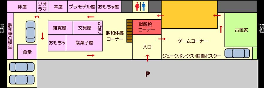氷見昭和館 館内マップ 1F